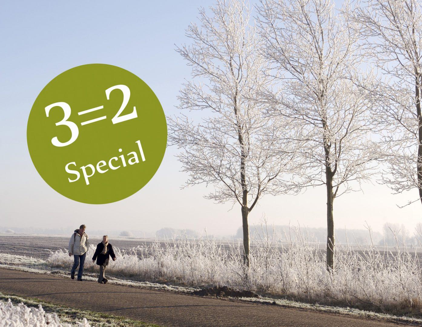 Hotel aanbieding Drenthe - Winterspecial 3=2