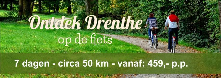 7-daags Fietsvakantie - De ronde van Drenthe