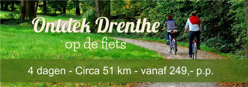 Fietsvakantie van hotel naar hotel Drenthe